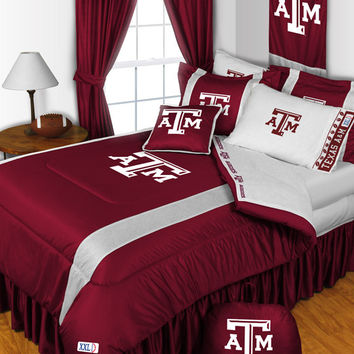 Texas A&M Aggies Sidelines 6pc Twin Bed Set