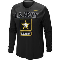 Army Black Knights Nike Military Classic Long Sleeve T-Shirt - Black