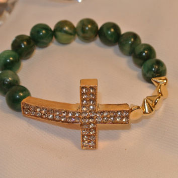 "Don't be ""Jaded"" - Green African Jade Bracelet"