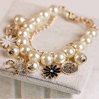 Shiny Hot Sale Great Deal Gift Awesome New Arrival Korean Stylish Trojan Pearls Bracelet [6573073543]