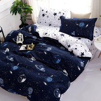 Galaxy Print Duvet Cover Set