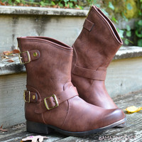 Road Traveler Cognac Ankle Boots