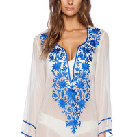 Ella Moss Cabana Tunic in Blue