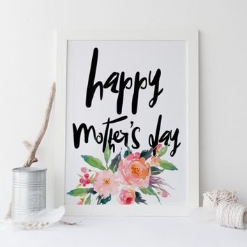 Mothers day print PRINTABLE Home is where mom is print wall art printable mothers day gifts decor printable gifts for mom mother day quote