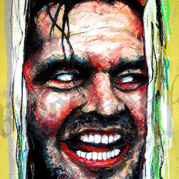 "Print 8x10"" - Here's Johnny - The Shining Horror Classic Dark Art Killer Jack Nicholson Stanley Kubrick"