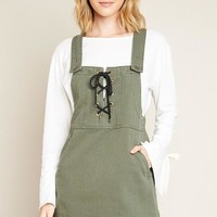 Tie Front Overall Dress