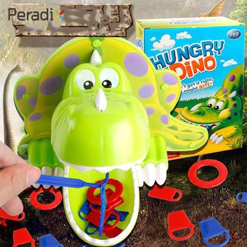 ABS Green Family Jokes Dinosaur Toy Hunger Dino Toy Funny Parents-Kids Interactive Bite Finger Game Exciting BRPG Kids Toy