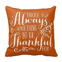 Thanksgiving Always Be Thankful Couch Cushion Cover