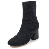 Iggy Sparkle Block Ankle Boots
