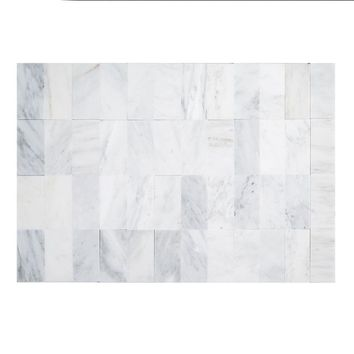 Jeffrey Court Carrara 3 in. x 6 in. x 8 mm Honed Marble Wall Tile (8-Pack)-99090 - The Home Depot