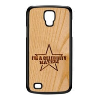 Carved on Wood Effect_Celebrity Hater Black Hard Plastic Case for Galaxy S4 Active by Chargrilled