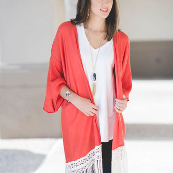 Playing with Fire Fringe Kimono