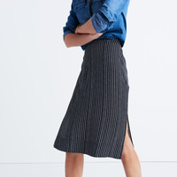 Striped Side-Slit Midi Skirt : shopmadewell AllProducts | Madewell