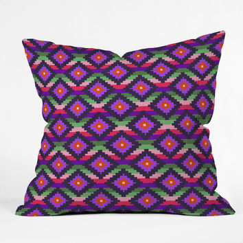 Bianca Green Aztec Diamonds Fiesta Throw Pillow