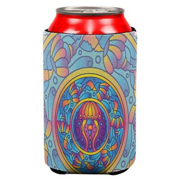 CREYCY8 Mandala Trippy Stained Glass Jellyfish All Over Can Cooler