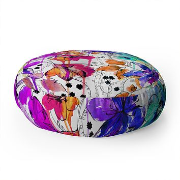 Holly Sharpe Lost In Botanica 1 Floor Pillow Round
