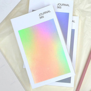 Hologram 6 months small undated daily journal diary