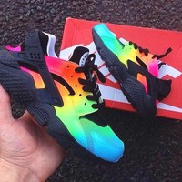 NIKE Huarache Rainbow Colorful Fashion Men Running Sport Casual Shoes Sneakers G-AA-SDDSL-KHZHXMKH