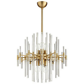 Galaxy Chandelier - Aged Brass | Hanging Lamps | Lighting | Decor | Z Gallerie