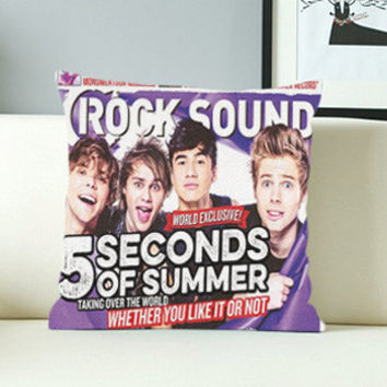 5 Second Of Summer 5SOS Rock Sound - Design Pillow Case with Black/White Color.