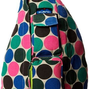 KAVU Rope Bag, Earth Dot, One Size
