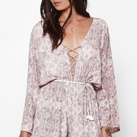 Positana Lace-Up Romper