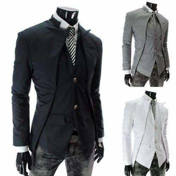 DCCKON3 top brandmens suit jacket slim asymmetrical design tuxedo jacket 3 color 4 size business suit nz55