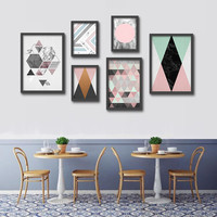 Modern Nordic Simple Print Oil Painting Geometry Series Painting Home Decor pictures On Canvas Modern Wall Prints
