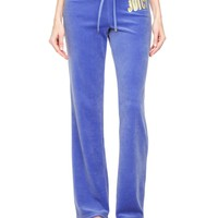 Logo Velour Juicy Couture Bootcut Pant by Juicy Couture