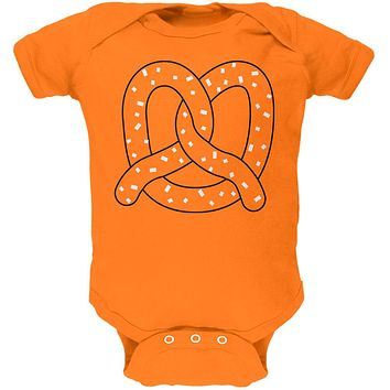 Halloween Pretzel Food Costume Soft Baby One Piece