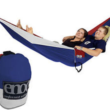 ENO DOUBLE Nest Hammock PATRIOT RED/WHITE/BLUE Two Person NEW