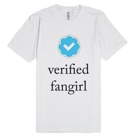 Verified Fangirl-Unisex White T-Shirt