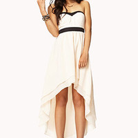 Strapless Layered High-Low Dress | FOREVER 21 - 2045987463