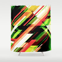 Linear Shower Curtain by Robin Curtiss   Society6