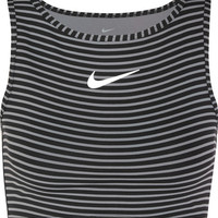 Nike - Power cropped striped Dri-FIT stretch-jersey tank