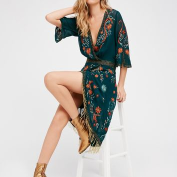 Free People Midnight City Midi Dress