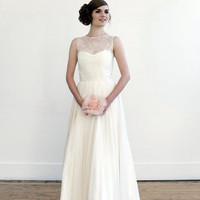 For Emily full length wedding gown by englishdept on Etsy