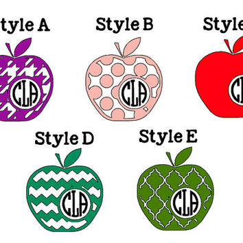 Apple Monogram Decals