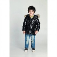 Livobu Kids Rod Toddler Quilted Down Parka Black With Genuine Coyote Fur Trim,Livobu.com - Like it,Love it,Buy it!