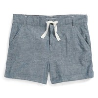 Tucker + Tate 'Clover' Chambray Shorts (Big Girls)