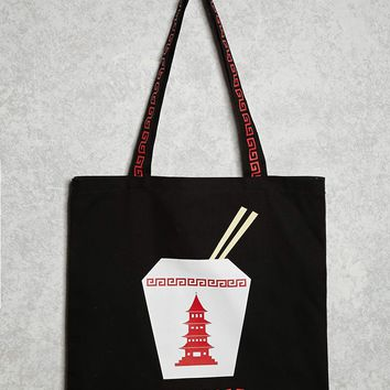 Enjoy Graphic Canvas Tote