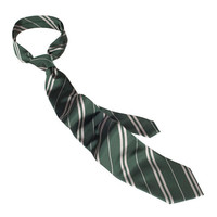 universal studios harry potter slytherin house silk tie new with tags