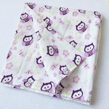 Summer Baby Swaddle Wrap Blanket Cute  Cartoon Owl Swaddleme For  Aden Anais Blanket Muslin Baby Swaddling Blankets 120*120cm