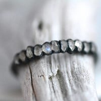 Rainbow Moonstone Band Ring. Moonstone Ring. Rainbow Moonstone Band.