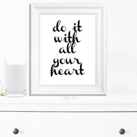 Inspirational Print, Wall Decor, Typography Wall Art, Motivational Print, Inspirational Poster, Teen Gift Ideas, Shabby Chic - PT0060