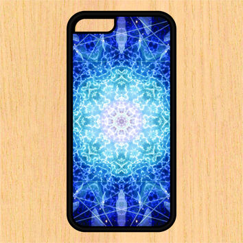 Blue Electric Mandala Sec1 Print Design Art iPhone 4 / 4s / 5 / 5s / 5c /6 / 6s /6+ Apple Samsung Galaxy S3 / S4 / S5 / S6
