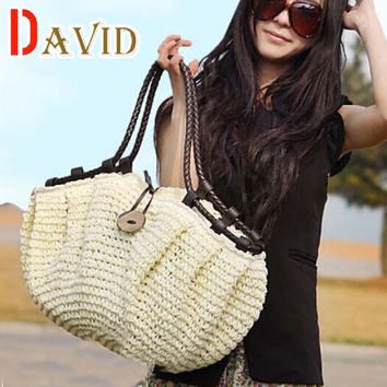 women bag summer style handbags fashion 2016 totes designers Straw bag woven beach bag famous designer brands high quality