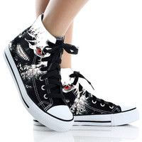Tokyo Ghoul,Shoes Custom,High Top,canvas shoes,Painted Shoes,Special Christmas Gift,Birthday gift,Men Shoes,Women Shoes