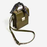 CROSSBODY BAG WITH SCARF DETAIL