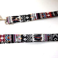 Aztec Bohemian Flannel Dog Leash